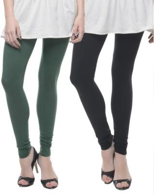 Lavennder Women's Black, Green Leggings