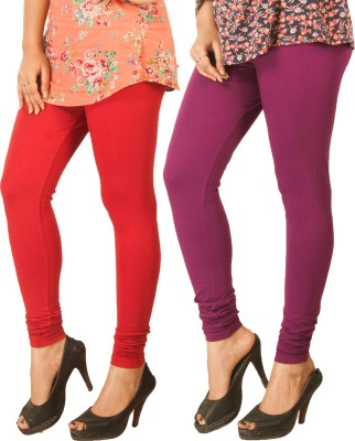 Berries Women's Red, Purple Leggings