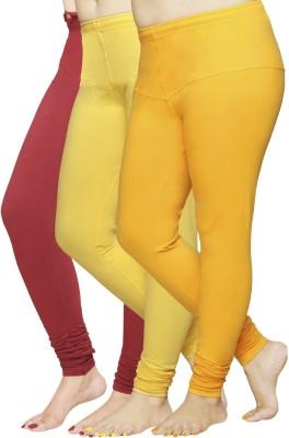 Pomelo Women's Yellow, Orange, Maroon Leggings