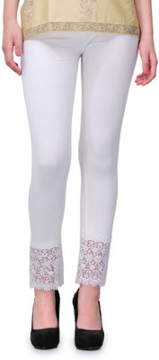 Aarushi Fashion Women's White Leggings