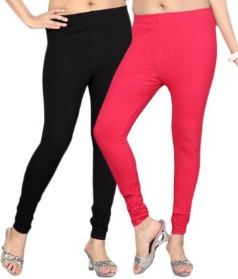KANNAN Women's Black, Pink Leggings