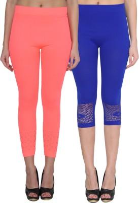 NumBrave Women's Pink, Blue Leggings