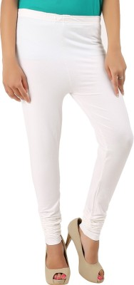 CURVIVA Women's White Leggings