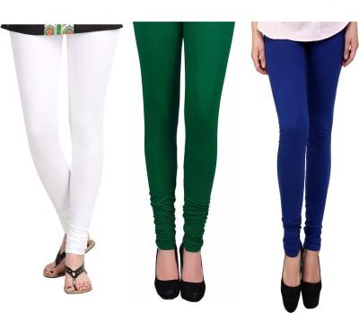 Vastra Buzz Women's White, Green, Dark Blue Leggings