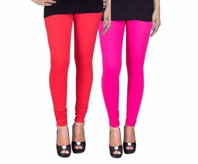 Ayesha Fashion Women's Red, Pink Leggings