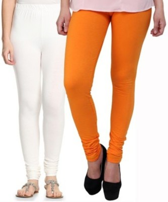 Hirshita Leggingss Women's White, Orange Leggings