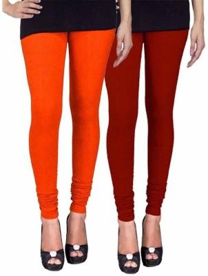 Ayesha Fashion Women's Orange, Maroon Leggings