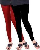Arma Women's Black, Red Leggings (Pack o...