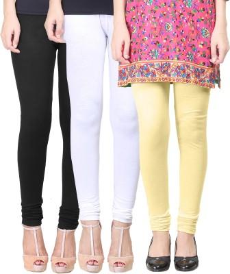 Eshelle Women's Black, White, Yellow Leggings