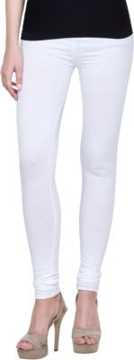 Golden Weave Women's White Leggings