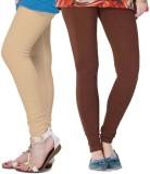 Fronex India Women's Beige, Brown Leggin...