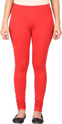 TECOT Women's Red Leggings