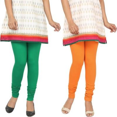 Agrima Fashion Women's Green, Orange Leggings