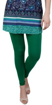 Mahadevi Women's Dark Green Leggings