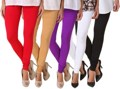Fasense Women's Purple, Brown, White, Red, Black Leggings