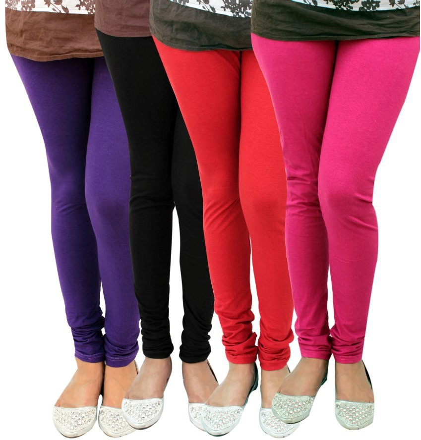 Alexus Womens Multicolor Leggings(Pack of 4)