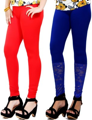 By The Way Women's Red, Blue Leggings