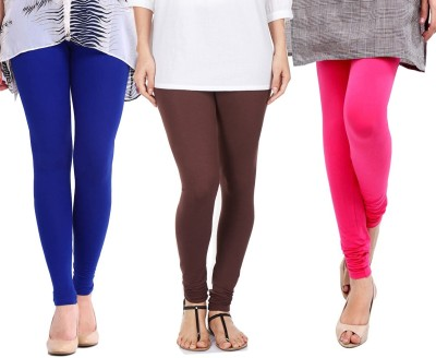 Sampoorna Collection Women's Blue, Brown, Pink Leggings