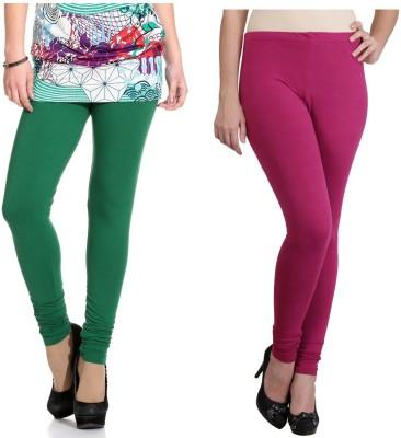 Ahhaaaa Women's Green, Maroon Leggings