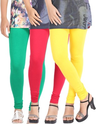 Be-Style Women,s Red, Green, Yellow Leggings