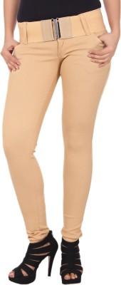 Aa Brand Slim Fit Women's Beige Jeans