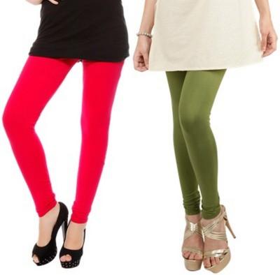 Bembee Women's Red, Green Leggings