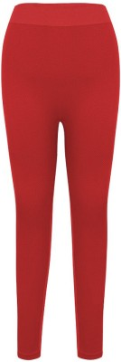 Penny by Zivame Women's Red Leggings