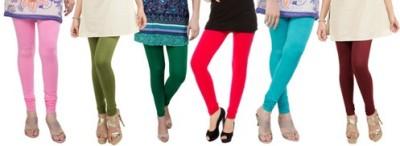 Prekrasna Women,s Pink, Light Green, Green, Red, Light Blue, Maroon Leggings