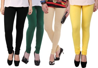 Dharamanjali Women's Black, Green, Beige, Yellow Leggings