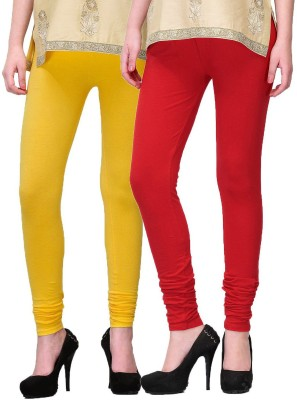 NE Women's Yellow, Red Leggings