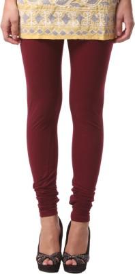 FashionExpo Women's Maroon Leggings