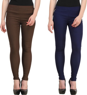 FIFO Women's Brown, Blue Jeggings