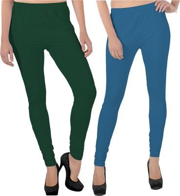 X-Cross Women's Dark Green, Blue Leggings
