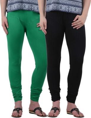 American-Elm Women's Green, Black Leggings