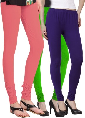 VENUSTAS Women's Pink, Light Green, Dark Blue Leggings