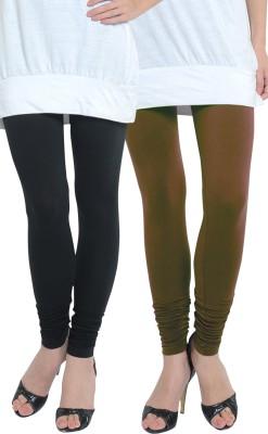 Tulsattva Women's Brown, Black Leggings