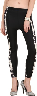Yepme Women's Black, White Leggings