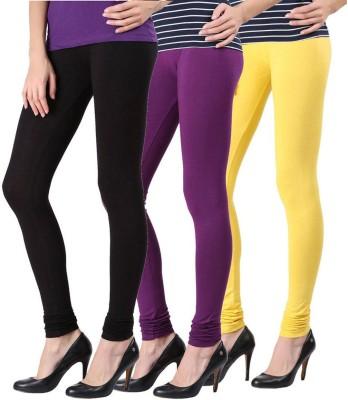 Fashion Zilla Women's Black, Purple, Yellow Leggings