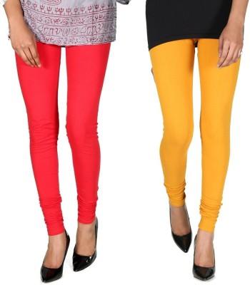 Ally Of Focker Women's Red, Yellow Leggings