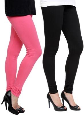 Pannkh Women's Pink, Black Leggings