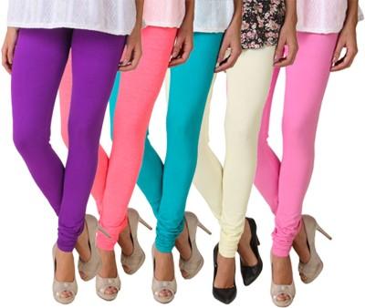 Fasense Women's Purple, Pink, Green, Pink Leggings