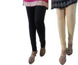 LatestQ Women's Black, Beige Leggings (P...