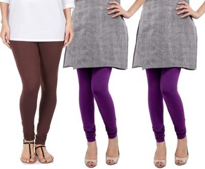 Sampoorna Collection Women's Brown, Purple, Purple Leggings