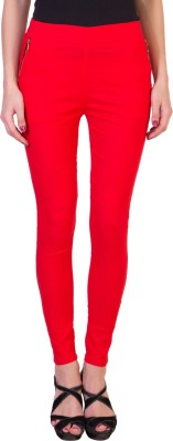 Tooba Women's Red Jeggings