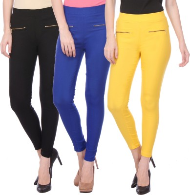 Flying Duck Women's Blue, Black Jeggings