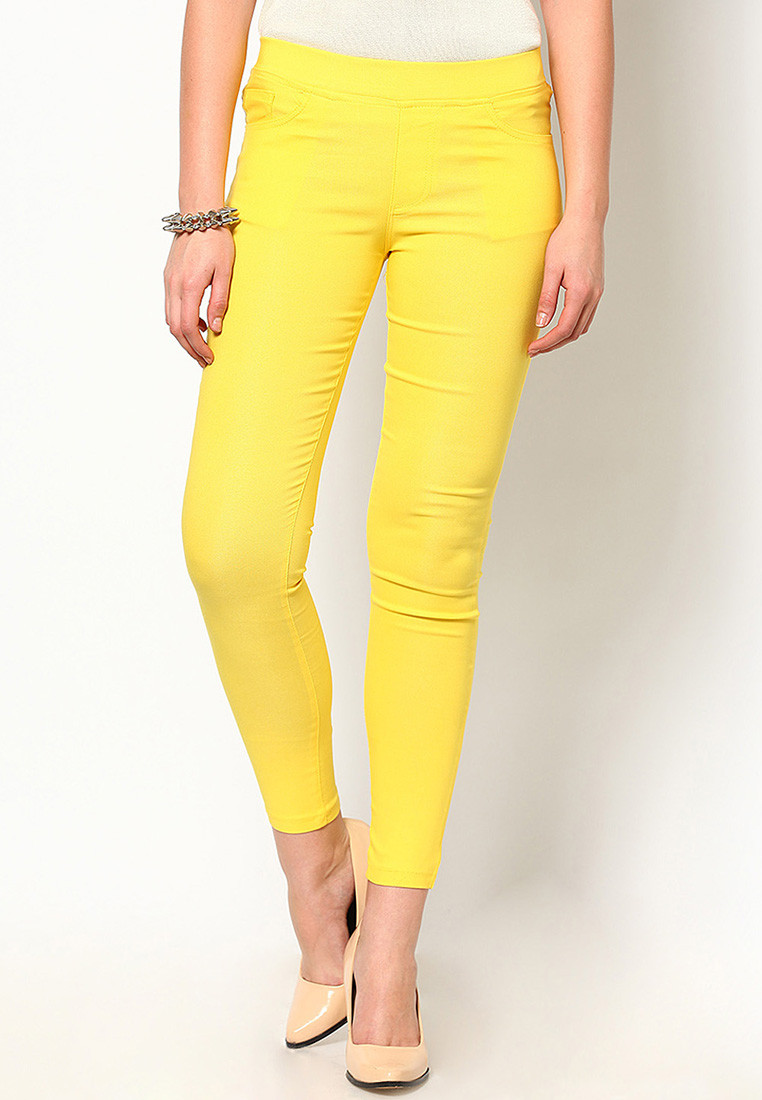 Sportelle USA India Womens Yellow Jeggings