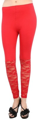 Fashion Kala Women's Red Leggings