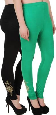 You Forever Women's Black, Green Leggings