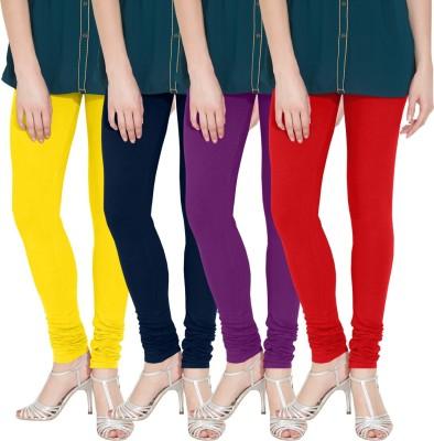 Nicewear Women's Yellow, Blue, Purple, Red Leggings