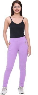 Mijaaz Women's Purple Jeggings